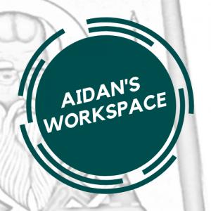 Aidan's Workspace logo--green on white